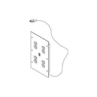 IAC Industries QS-1022161-D Pre-Wired Electrical Panel for Instrument Shelf