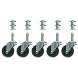 Bevco CAR5-2I Optional Rubber Wheel Casters for 1000 Series, 5/Set