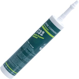 Dow Corning 732 Multi-Purpose Sealant, Clear, 10.1 oz Cartridge