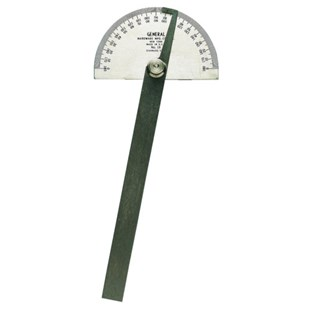 General 18 Stainless Steel Protractor