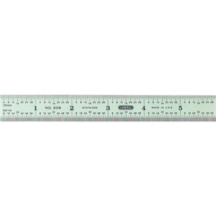 "General 308* 308 STEEL RULER GENERAL 6"" FLEX             308"