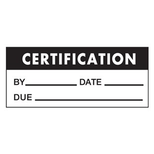 "Brady WO-42 Write-On Certification Labels, 1.50"" x .625"", 14/Card"