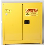 "Eagle 1930 Flammable Liquid Safety Storage Cabinet with Self Close Door, 30 Gal. Capacity, 43"" W x 18"" D x 44"" H"