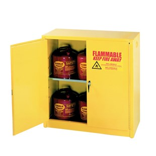 "Eagle 1932 Flammable Liquid Safety Storage Cabinet, 30 Gal. Capacity, 43"" W x 18"" D x 44"" H"