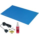 Desco 66040 Statfree T2™ Two Layer Rubber Table Mat, Blue, 2' x 3'