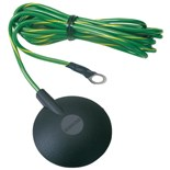 Desco 09814 Mat Ground Cord, 10mm Stud, No Resistor with 15' Cord