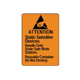 "Brady SL-1 Static Awareness Labels, 1.812"" x 2.500"" 500/Roll"