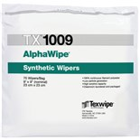 "Texwipe TX1009 AlphaWipe® 100% Continuous-Filament Polyester, 9"" x 9"", 150/Bag"
