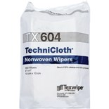 "Texwipe TX604 TechniCloth® Cleanroom Wipes Cellulose/Polyester Blend, 4"" x 4"", 1200/Bag"