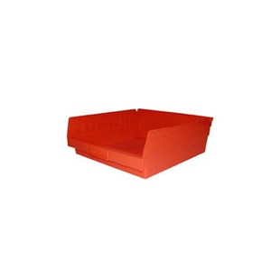 "Akro-Mils 30170-RED Bin Shelf 11.62"" X 11.12"" X 4"" Red"
