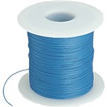 Alpha Wire 2842/1 RD005 Blue 28AWG Solid PTFE Insulated Hook-up Wire 100' Spool