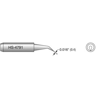 Plato HS-4791 Solding Tip, Interchangeable Hakko T18-BR02 Angled SMD