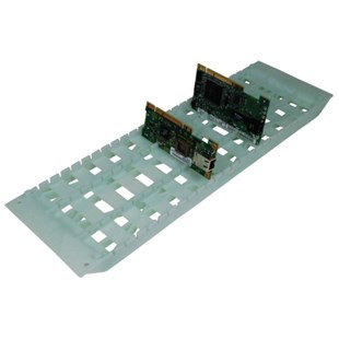 """Fancort RA-18CL ESD-Safe Conductive PCB Holder Cleanroom, 6"""" x 18"""" with 25 Slots"""