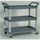 Rubbermaid 4091-00-GRAY X-TRA Utility Cart, Open Sided