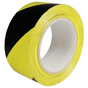 T-804 Floor Tape with Yellow/Black Stripe, 2""