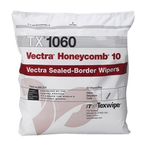 Texwipe TX1060 Vectra Honeycomb 10 Wipers, ISO Class 3-4 Cleanroom Environments