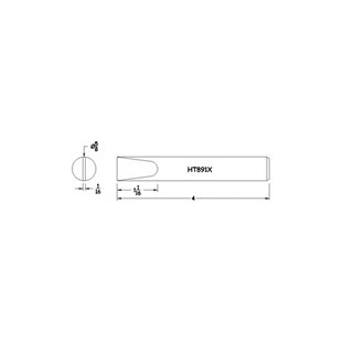 "Hexacon HT891X 5/8"" SOLDER TIP HEXACON"