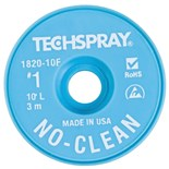 "Techspray 1820-10F No-Clean Desoldering Braid, .035"" x 10'"