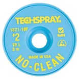 "Techspray 1821-10F No-Clean Desoldering Braid, .055"" x 10'"