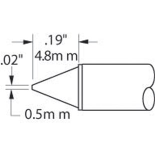 "Metcal STTC-116 TIP CARTRIDGE, 1/64"" CONICAL"