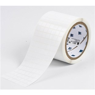 """Brady THT-38-423-10 Glossy Polyester Labels, .375"""" H x .375"""" W, 3"""" Core, 10,000/Roll"""