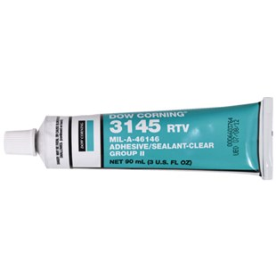 Dow Corning 3145 RTV MIL-A-46146 MIL-A-46146 Adhesive Sealant, Clear, 3 oz. Tube