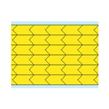 "Brady DIA-250-YL Yellow Di-Cut Inspection Arrows, 0.250"" x 0.125"" 564/Card"