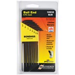 Bondhus 10932 L-Key Set, Balldriver 8 pc, .050 thru 5/32""