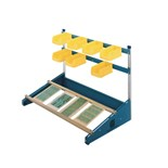 "MB Manufacturing CS-48 48"" Combo-Slide Rack with Two PCB Slide Rails"