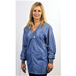 Tech Wear VOJ-23C Groundable ESD-Safe V-Neck Jacket with Cuffs, Small