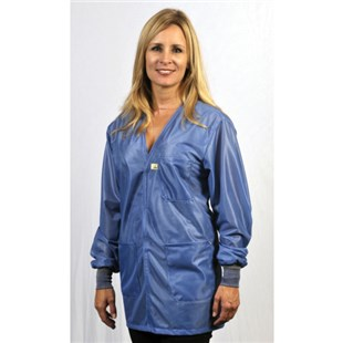 Tech Wear LOJ-23C Groundable ESD-Safe V-Neck Jacket with Cuffs, 6X-Large
