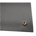 Botron BV435 Dissipative V-Groove Floor Mat with Snap and Ground Cord, 3' x 5'