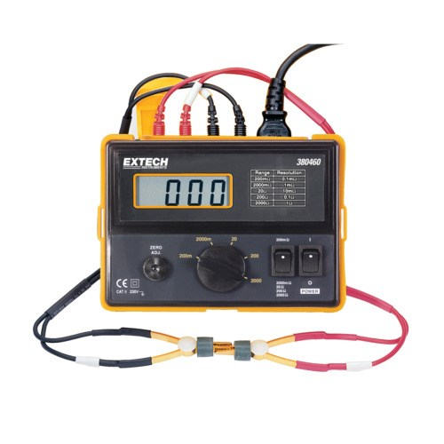 4 Wire Ohmmeter : Extech nist wire milli ohm meter vac