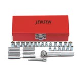 Jensen Tools 185-227 28-Piece Inch/Metric Socket Set