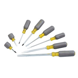 Stanley 66-708 8pc. Cushion-Grip Phillips/Slotted Jobmaster Screwdriver Set