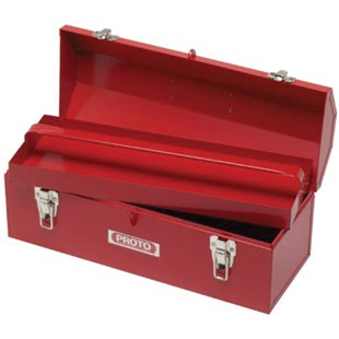 """Proto J9971-NA 19"""" Hip Roof Red Metal Toolbox with Tray"""