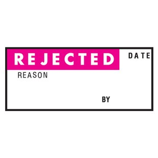 """Brady WO-1 Write-On Rejected Labels, 1.50"""" x .625"""", 18/Card"""