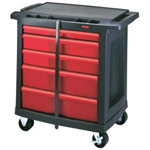 Rubbermaid 7734-88 5-Drawer Work Center Utility Cart