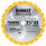 "Dewalt DW3178 7-1/4"" Carbide Tipped 24T Circular Saw Blade"