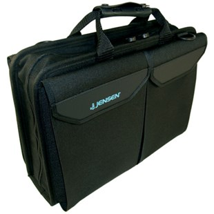 Jensen Tools Single Black Cordura+ Case with Pallets, 16-1/8x11-1/2x4""