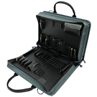 Jensen Tools D1384JTR2 Double-Sided Gray Ballistic Nylon Case with pallets only