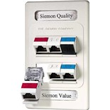 Siemon MX-FP-S-06-02 Max Series Faceplate Single Gang 6 Port White