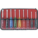 Jensen Tools Nutdriver Set with Pouch, 9 pc., All Colors, All Sizes