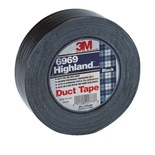 3M 6969 Duct Tape, Black, 1 Roll