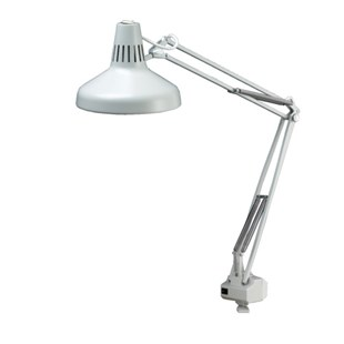 Luxo LC1ALG LC Combination Fluorescent/Incandescent Task Light Gray