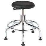 "Bevco 3210C1P-ACF18 Class 10 Cleanroom Stool with Glides (Seat Height: 18""-23"")"