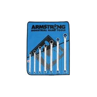 """Armstrong 27-609 Armstrong Geared Box Wrench Set 3/8""""-3/4"""" 7 Pc"""