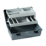 Flambeau 6755HS Cantilever-Tray Tool/Parts Box, 2 Trays, 8 Compartments