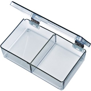 Flambeau 5202CL Parts Box with 2 Compartments, 4-1/2 x 2-3/4 x 1-1/8""