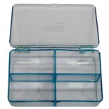 Flambeau 5204CL Parts Box with 4 Compartments, 4-1/2 x 2-3/4 x 1-1/8""